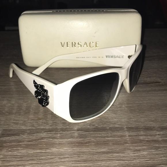 5276c6f1a926 White Versace Sunglasses